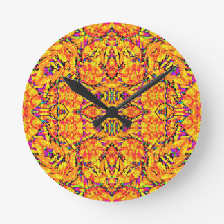 Colorful Vibrant Ornate Round Clock