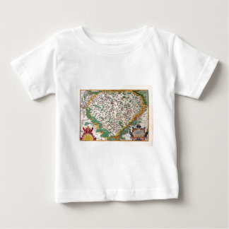 Colorful Vintage Antique Map of Bohemia Baby T-Shirt