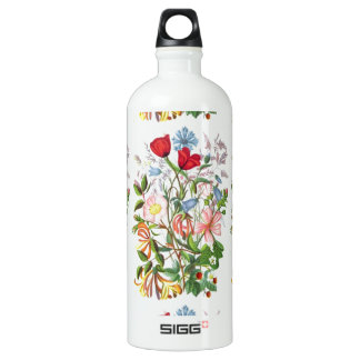 Colorful Vintage Bouquet Art Water Bottle