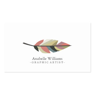 Colorful Vintage Feather Pack Of Standard Business Cards