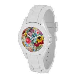 Colorful Vintage Floral Wrist Watch