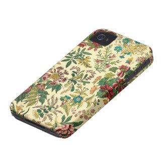 Colorful Vintage Garden Floral Case-Mate iPhone 4 Cases
