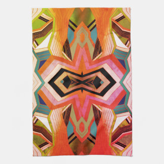 Colorful Vintage Geometric Vibes Kitchen Towel