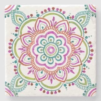 colorful vintage gypsy design stone coaster