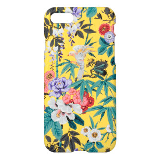 Colorful Vintage Japanese Bird Floral Pattern iPhone 8/7 Case
