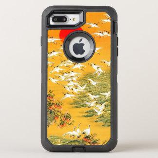 Colorful Vintage Japanese Cranes at Sunset OtterBox Defender iPhone 8 Plus/7 Plus Case
