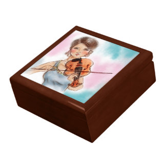 Colorful vintage lady gift box - Violin