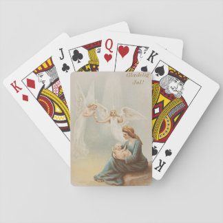 Colorful vintage Mary with baby Jesus deck Playing Cards