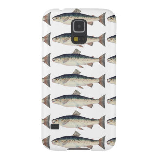Colorful vintage salmon illustration cases for galaxy s5
