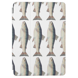 Colorful vintage salmon illustration iPad air cover