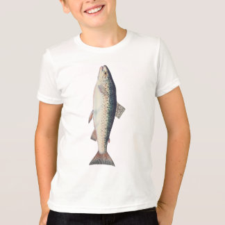 Colorful vintage salmon illustration T-Shirt