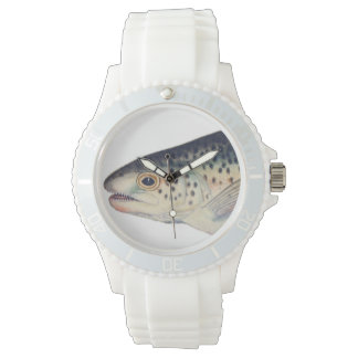 Colorful vintage salmon illustration watches