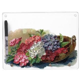 Colorful Vintage Verbenas Dry Erase Board