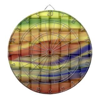 Colorful vintage wicker art graphic design dart board