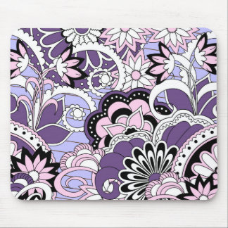 colorful violet boho pattern mouse pad