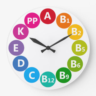 Colorful Vitamin Design Large Clock
