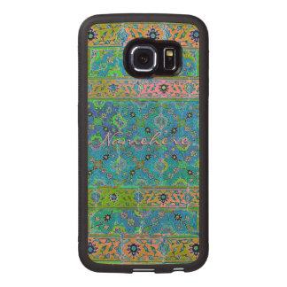 Colorful Vivid Ceramic Look! Pretty! Add Name! Wood Phone Case