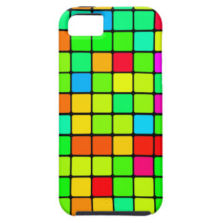Colorful Vivid Design Retro Squares Case For The iPhone 5