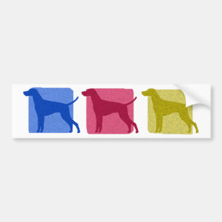 Colorful Vizsla Silhouettes Bumper Sticker