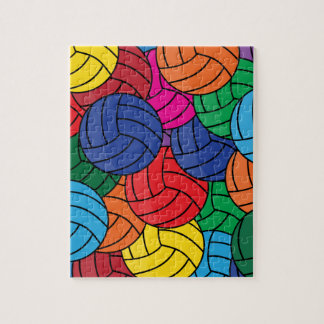 Colorful Volleyball Collage Jigsaw Puzzle
