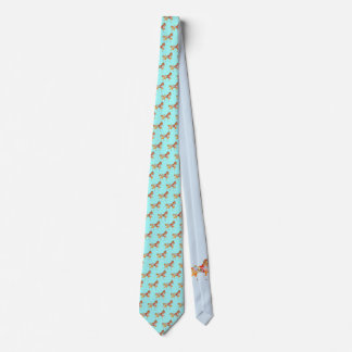 Colorful Walking Carousel Horse Tie