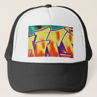 colorful wall graffiti trucker hat