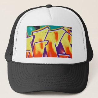 colorful wall graffiti trucker hat