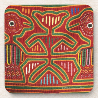 Colorful Wall Hanging of Cuna Indians 2 Coaster