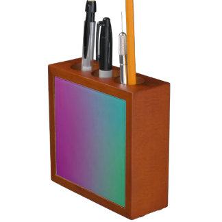 Colorful Wallpaper on a Desk Organizer