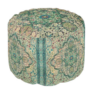 Colorful Washed-out Colors Persian Rug Motive Pouf