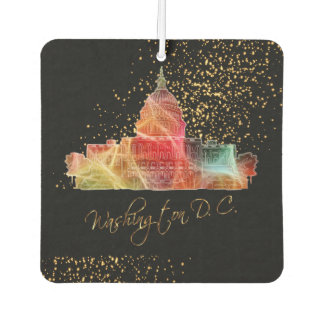 Colorful Washington DC Skyline Design Air Freshener