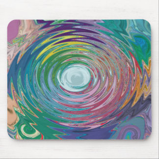 Colorful Water Drop Swirl Abstract Mousepad
