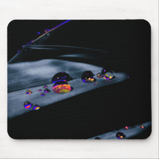 Colorful Water Drops Mouse Pad