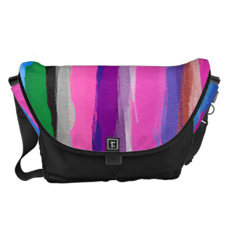 Colorful Watercolor Abstract Pattern Courier Bag