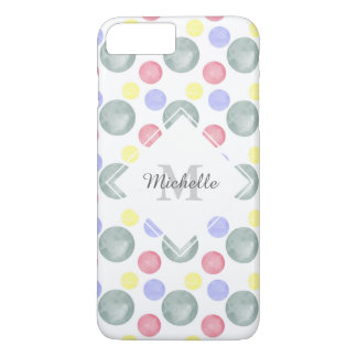 Colorful Watercolor Circle Pattern iPhone 7 Plus Case