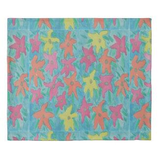 Colorful Watercolor Floral Duvet