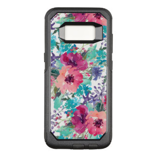 Colorful Watercolor Floral Pattern OtterBox Commuter Samsung Galaxy S8 Case