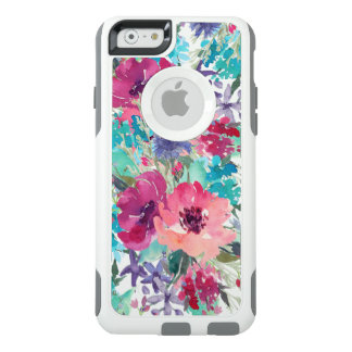 Colorful Watercolor Floral Pattern OtterBox iPhone 6/6s Case