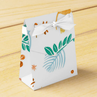 colorful watercolor leaf gift boxes favor box