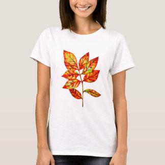 Colorful watercolor  leaf T-Shirt