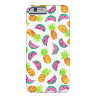 colorful watercolor pineapple watermelon pattern barely there iPhone 6 case