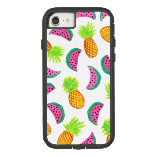 colorful watercolor pineapple watermelon pattern Case-Mate tough extreme iPhone 8/7 case