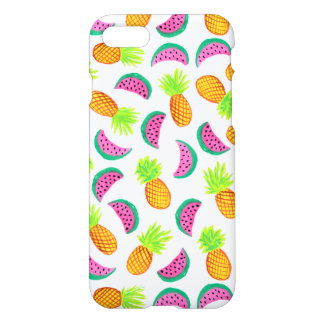 colorful watercolor pineapple watermelon pattern iPhone 8/7 case