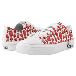 Colorful watercolor strawberries & jams Low-Top sneakers