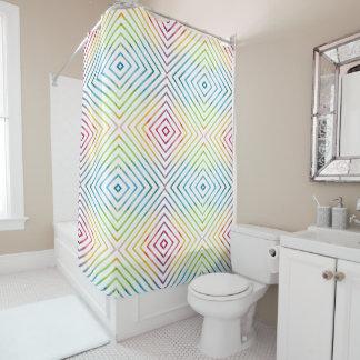 Colorful watercolor striped geometric