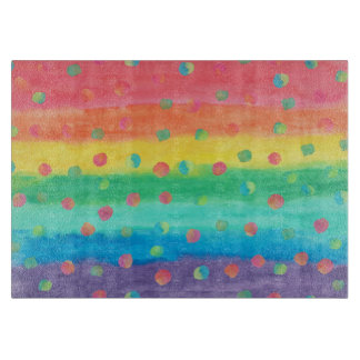 Colorful Watercolor Stripes and Spots Boards