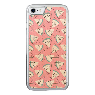 Colorful Watercolor Watermelons Carved iPhone 8/7 Case