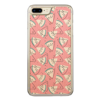 Colorful Watercolor Watermelons Carved iPhone 8 Plus/7 Plus Case