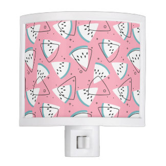 Colorful Watercolor Watermelons Night Light