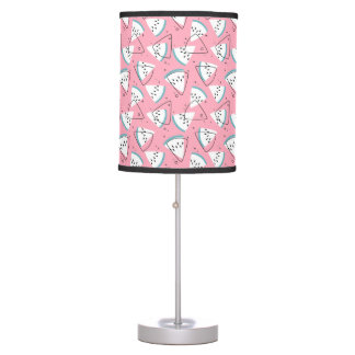 Colorful Watercolor Watermelons Table Lamp